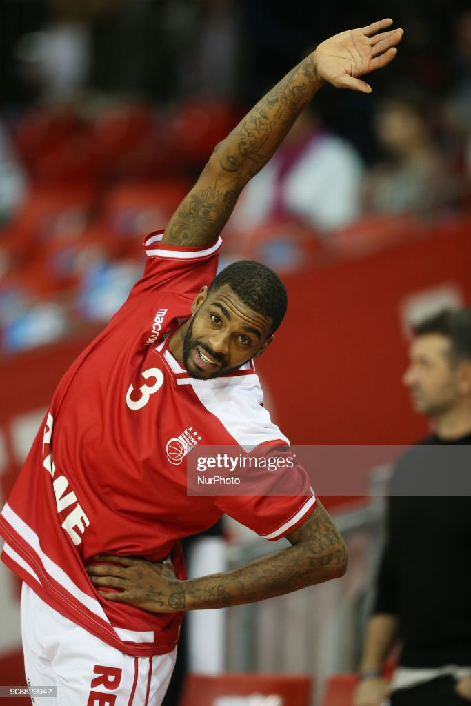 Dorell Wright of Brose Baskets Bamberg before the Quarterfinal match in the BBL Pokal 2017/18 between FC Bayern Basketball and Brose Baskets Bamberg at the Audi Dome on January 21,2018.