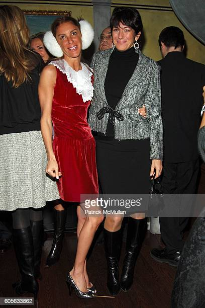 Dori Cooperman and Ghislaine Maxwell attend Fawaz Gruosi of de GRISOGONO hosts a PreValentine's Cocktail Party at The de GRISOGONO Boutique on...