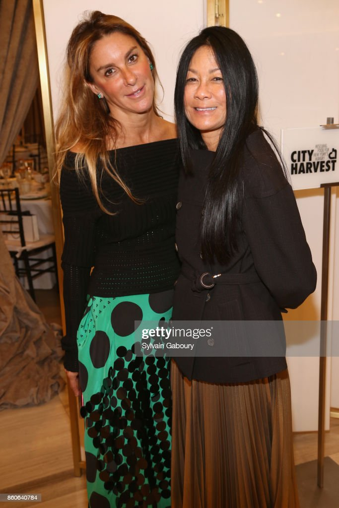 Dori Cooperman and Helen Lee Schifter attend Saks Fifth Avenue Luncheon to Benefit City Harvest at Saks Fifth Avenue on October 12, 2017 in New York City.