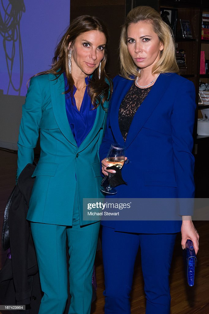 Dori Cooperman (L) and Inga Rubenstein attend Alvin Valley 'Belle De Jour' Intimate Dinner Party on April 24, 2013 in New York City.