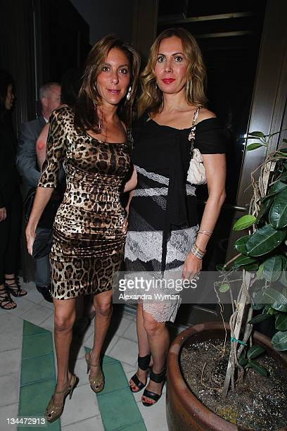 Dori Cooperman and Inga Rubenstein attend the Phillips De Pury dinner and dancing hosted by Simon de Pury at Cecconi's Soho Beach House Miami on...