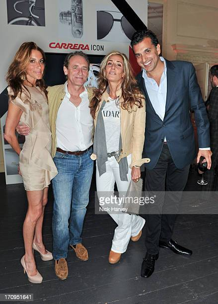 Dori Cooperman Damian Aspinall Tara Bernerd and Dino Lalvani attend the Carrera Ignition Night at The House of St Barnabas on June 20 2013 in London...