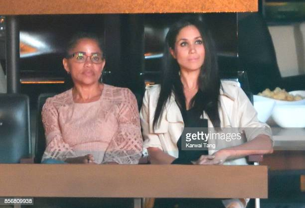 Doria Ragland and Meghan Markle are seen at the Closing Ceremony on day 8 of the Invictus Games Toronto 2017 at the Air Canada Centre on September...