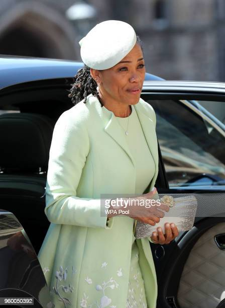 Doria Ragland arrives at St George's Chapel at Windsor Castle before the wedding of Prince Harry to Meghan Markle on May 19 2018 in Windsor England