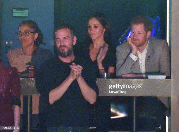 Doria Ragland Markus Anderson Meghan Markle and Prince Harry and are seen at the Closing Ceremony on day 8 of the Invictus Games Toronto 2017 at the...