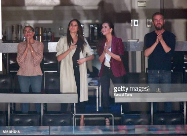Doria Ragland Meghan Markle Jessica Mulroney and Markus Anderson are seen at the Closing Ceremony on day 8 of the Invictus Games Toronto 2017 at the...
