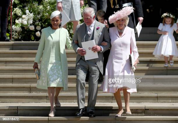 Doria Ragland Prince Charles Prince of Wales and Camilla Duchess of Cornwall after the wedding of Prince Harry and Ms Meghan Markle at St George's...