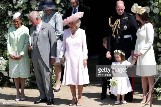 Doria Ragland Prince Charles Prince of Wales Camilla Duchess of Cornwall Prince William Duke of Cambridge Catherine Duchess of Cambridge with Prince...