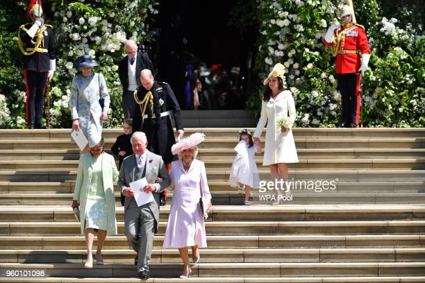 Doria Ragland Prince Charles Prince of Wales Camilla Duchess of Cornwall Prince William Duke of Cambridge with Prince George and Catherine Duchess of...