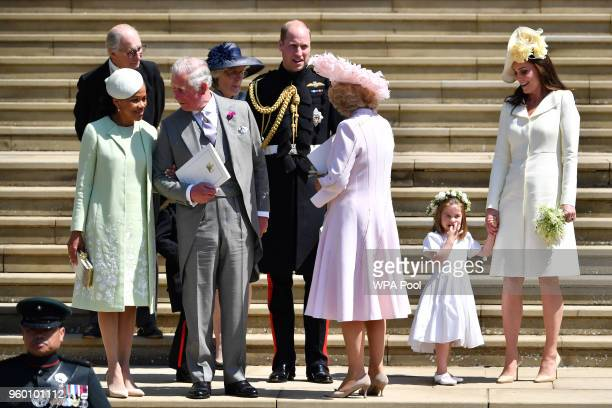 Doria Ragland Prince Charles Prince of Wales Jane Fellowes Prince William Duke of Cambridge Camilla Duchess of Cornwall and Catherine Duchess of...