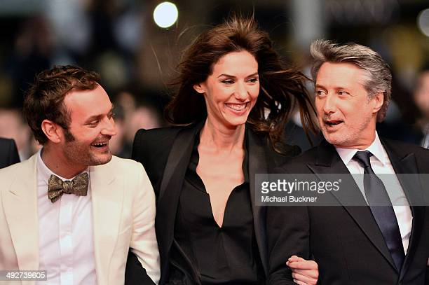 Doria Tillier and Antoine de Caunes attend the 'L'Homme Qu'On Aimait Trop' premiere during the 67th Annual Cannes Film Festival on May 21 2014 in...