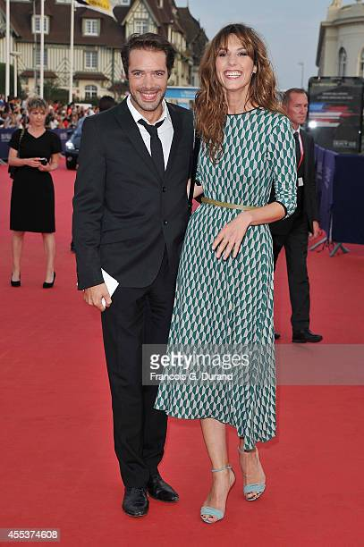 Doria Tillier and Nicolas Bedos arrive at the closing ceremony and the 'Sin City A Dame To Kill For' premiere during the 40th Deauville American Film...