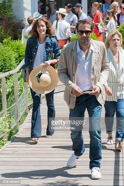 Doria Tillier and Nicolas Bedos attends the French Open at Roland Garros on June 6 2015 in Paris France