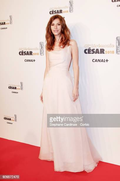 Doria Tillier arrives at the Cesar Film Awards 2018 at Salle Pleyel at Le Fouquet's on March 2 2018 in Paris France