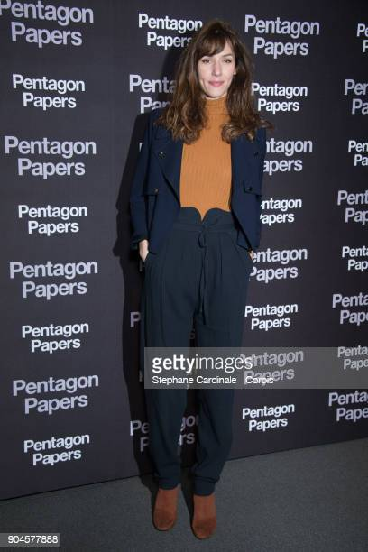 Doria Tillier attends 'Pentagon Papers' Premiere at Cinema UGC Normandie on January 13 2018 in Paris France