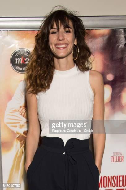 Doria Tillier attends the 'Monsieur Madame Adelman' Paris Premiere at MK2 Bibliotheque Cinema on February 27 2017 in Paris France