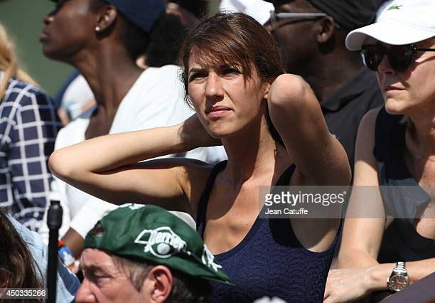 Doria Tillier attends the women's final of the French Open 2014 held at RolandGarros stadium on June 7 2014 in Paris France