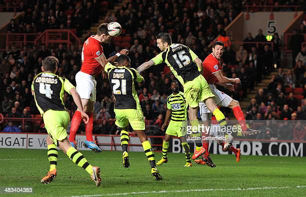 Dorian Dervite of Charlton scores Charlton's 2nd goal during the Sky Bet Championship match between Charlton Athletic and Yeovil Town at The Valley...