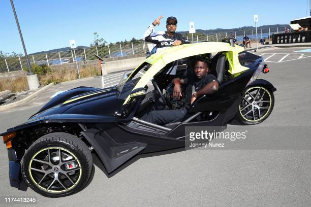 Dorian Harrington and Nigel Sylvester attend the Starstudded Adventure Ride hosted by Polaris Slingshot And RZR on September 12 2019 in Tenmile Oregon