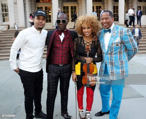 Dorian Harrington Dapper Dan Ezinma and New York City Council Member Andy King attend the 3rd Annual Influence Awards at City Hall on June 11 2018 in...