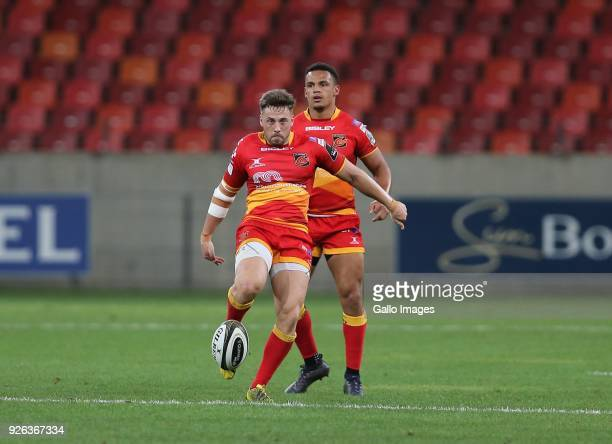 Dorian Jones of Newport Gwent Dragons during the Guinness Pro14 match between Southern Kings and Newport Gwent Dragons at Nelson Mandela Bay Stadium...