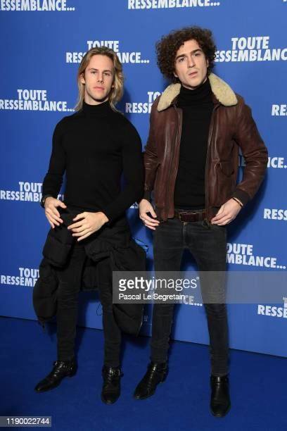 Dorian Lauduique and Cesar de Rummel of Ofenbach band attend the Toute Ressemblance photocall At UGC Cine Cite Les Halles on November 25 2019 in...