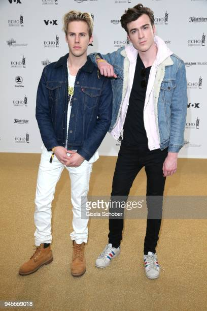 Dorian Lauduique Cesar Laurent de Rummel of the band Ofenbach arrives for the Echo Award at Messe Berlin on April 12 2018 in Berlin Germany