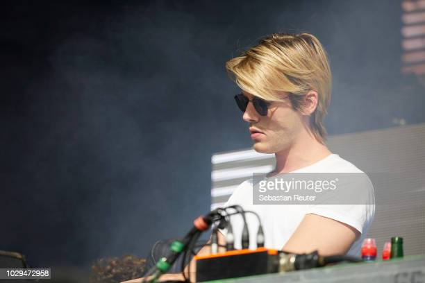 Dorian Lauduique of Ofenbach performs live on stage during the first day of the Lollapalooza Berlin music festival at Olympiagelaende on September 8...