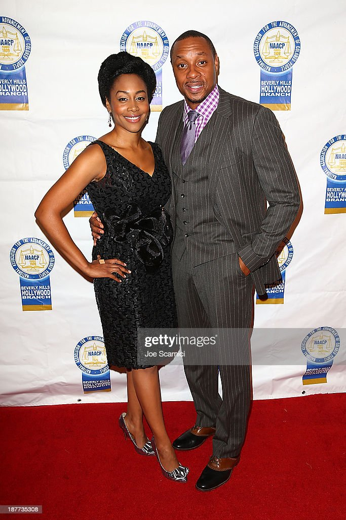 Dorian Missick (R) and Simone Missick arrive at the 23rd annual NAACP Theatre Awards at Saban Theatre on November 11, 2013 in Beverly Hills, California.