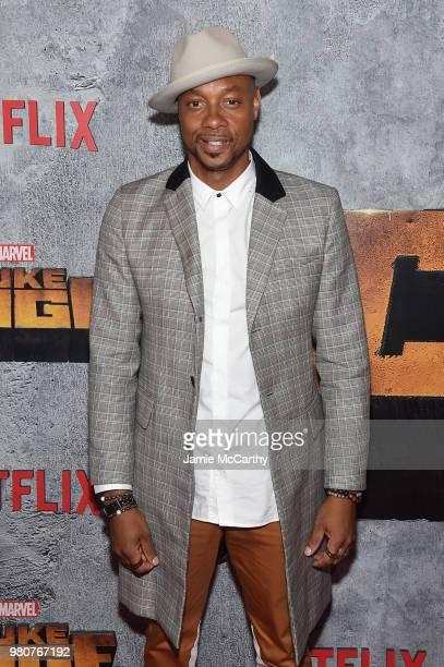 Dorian Missick attends the 'Luke Cage' Season 2 premiere at The Edison Ballroom on June 21 2018 in New York City