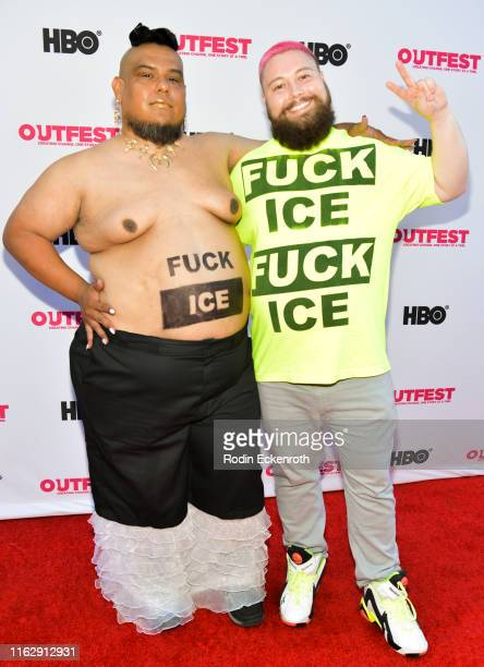 Dorian Wood and Graham Kolbeins attend the Outfest Los Angeles LGBTQ Film Festival Opening Night Gala premiere of Circus Of Books at Orpheum Theatre...