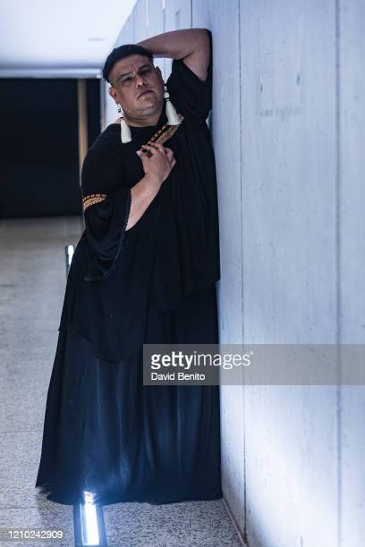 Dorian Wood poses for a portrait session at Teatros del Canal during FIAS 2020 XXX International Festival of Sacred Art of the Community of Madrid on...