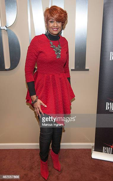 Dorinda ClarkCole attends her listening party on January 23 2015 in Atlanta Georgia