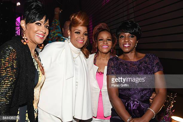Dorinda ClarkCole Karen Clark Sheard Jacky Cullum Chisholm and Cheryl Wills backstage at the 2016 ESSENCE Festival Presented By CocaCola at Ernest N...