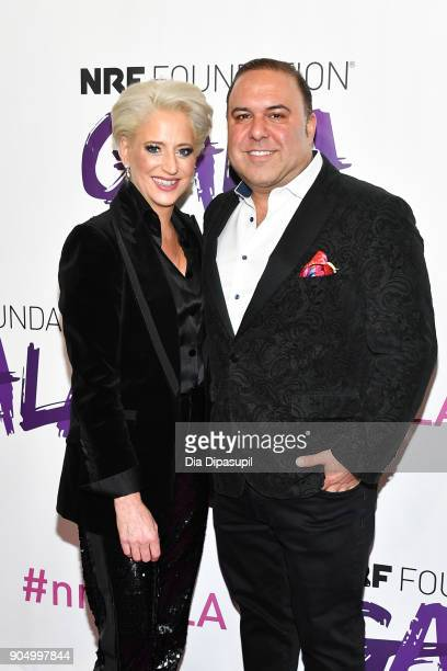 Dorinda Medley and John Mahdessian attend the 2018 National Retail Federation Gala at Pier 60 on January 14 2018 in New York City
