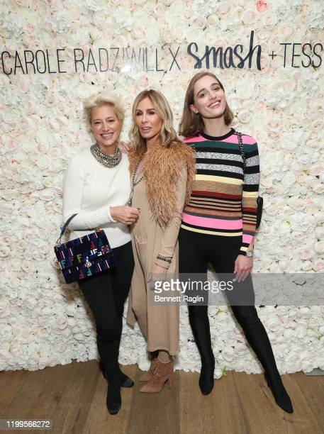Dorinda Medley Carole Radziwill and Hannah Lynch attend the launch of Smash Tess X Carole Radziwill collaboration at Crosby Street Hotel on January...