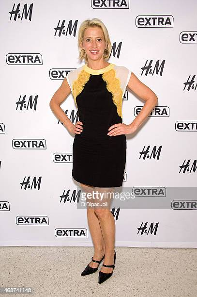 """Dorinda Medley of The Real Housewives of New York City visits """"Extra"""" at their New York studios at H&M in Times Square on April 6, 2015 in New York..."""
