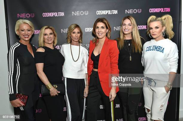 Dorinda Medley Ramona Singer Carole Radziwill Cosmopolitan EditorinChief Michele Promaulayko Heather Thomson and Tinsley Mortimer attend the opening...