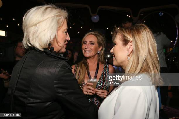 Dorinda Medley Sonja Morgan and Ramona Singer attend the opening night of the Big Apple Circus at Lincoln Center on October 28 2018 in New York City