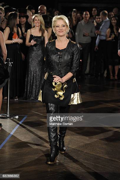 Dorinda Medley walks the runway during Dressed To Kilt Ball & Fashion Show presented by Usquaebach Scotch Whisky, The High Line Hotel & SugarBearHair...