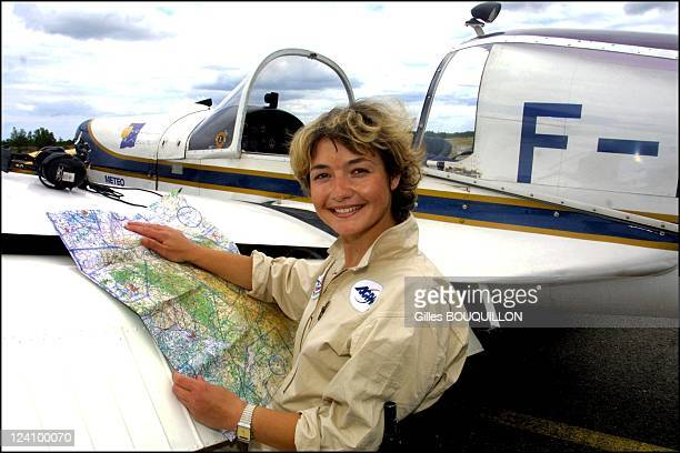 Dorine Bourneton paraplegic after crash and now a pilot for fire In France On July 27, 2002.