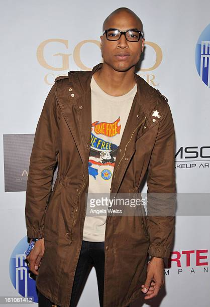 """Dorion Renaud arrives at BET Network's Music Matters Showcase """"Lipstick On The Mic"""" at Belasco Theatre on February 8, 2013 in Los Angeles, California."""