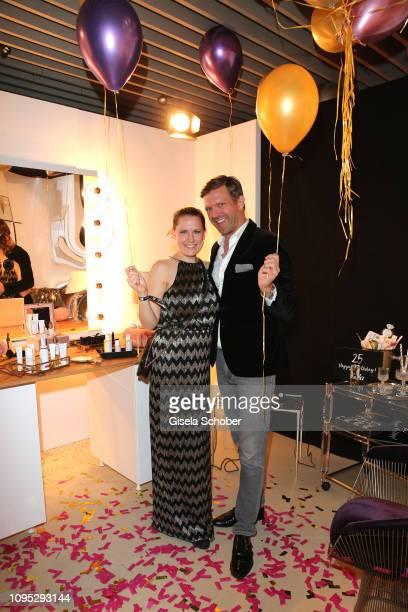Doris Brueckner Dr Hauschka and Christian Witt Breuninger during the Berlin Opening Night by GALA UFA Fiction at hotel Das Stue on February 7 2019 in...