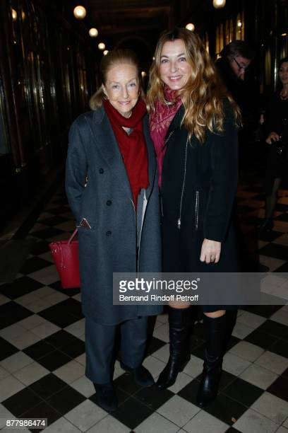 Doris Brynner and Arabelle Reille Mahdavi attend the Ligne Blanche Boutique Opening at Galerie VeroDodat on November 23 2017 in Paris France