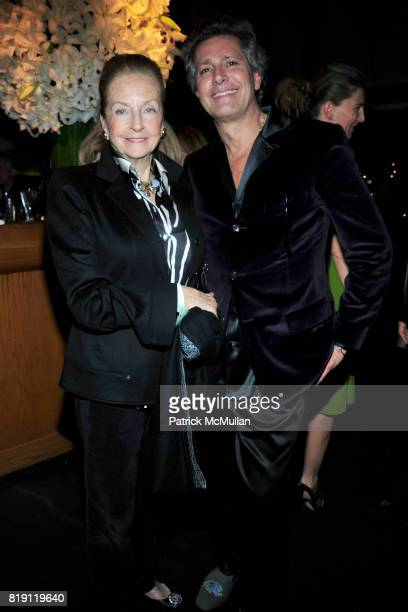Doris Brynner and Carlos Souza attend LARRY GAGOSIAN hosts a Private Dinner for the ANDREAS GURSKY Opening Exhibition at GAGOSIAN GALLERY at Mr Chow...