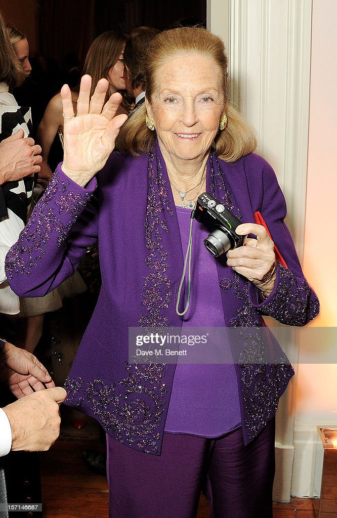 Doris Brynner attends a dinner celebrating the launch of 'Valentino: Master Of Couture', the new exhibition showing at Somerset House from November 29, 2012 to March 3, 2013, at the Italian Embassy on November 28, 2012 in London, England.