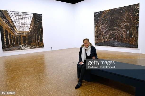 Doris Brynner attends the Anselm Kiefer's Exhibition Press Preview held at Centre Pompidou on December 15 2015 in Paris France