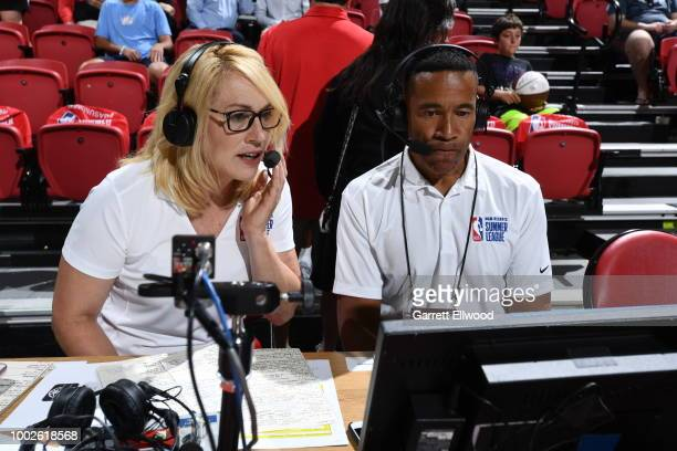Doris Burke and Mark Jones announce during the 2018 Las Vegas Summer League on July 8 2018 at the Thomas Mack Center in Las Vegas Nevada NOTE TO USER...