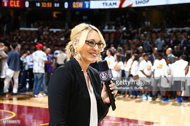 Doris Burke attends the game between the Golden State Warriors and the Cleveland Cavaliers during Game Six of the 2016 NBA Finals on June 16 2016 at...