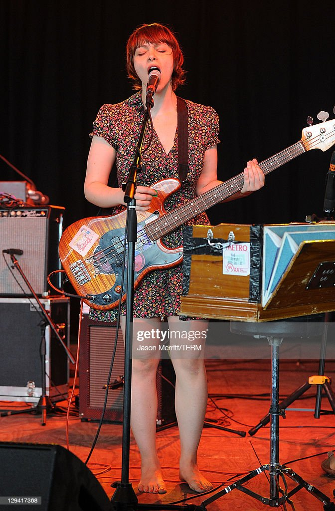 Doris Cellar of Freelance Whales perform on stage during Bonnaroo 2011 at That Tent on June & Doris Cellar Pictures and Photos | Getty Images